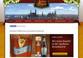 Die Website von Aachener Biere