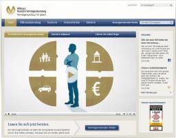 Die Website von ALLFINANZ - Deutsche Vermögensberatung