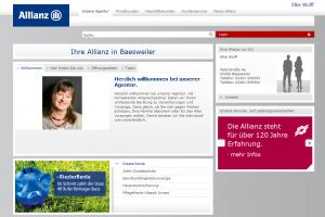 Die Website der Allianz Generalvertretung