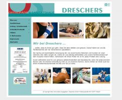 Die Website von Sanitätshaus Dreschers