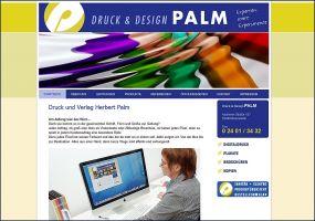 Die Website von Druck & Design Palm
