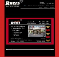 Die Website von Augenoptik-Juwelier-Ruers