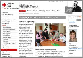 Die Website von Tagespflege Baesweiler DRK